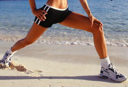 делать выпады ног и убрать жир